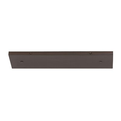 Multi Port Canopy Finish: Burnished Bronze, Size: 0.75 H x 18.25 W x 4.75 D