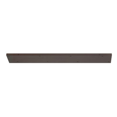 Multi Port Canopy Finish: Burnished Bronze, Size: 0.75 H x 34 W x 5 D