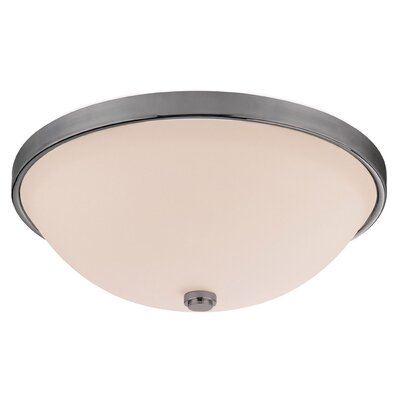 Jeffrey 4.5 2-Light Flush Mount Finish: Matte Nickel