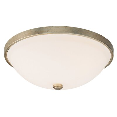 Jeffrey 4.5 2-Light Flush Mount Finish: Winter Gold