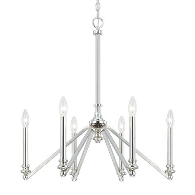 Calvin 6-Light Candle-Style Chandelier