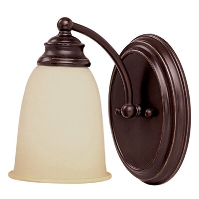 7.5 1-Light Wall Sconce in Mediterranean Bronze