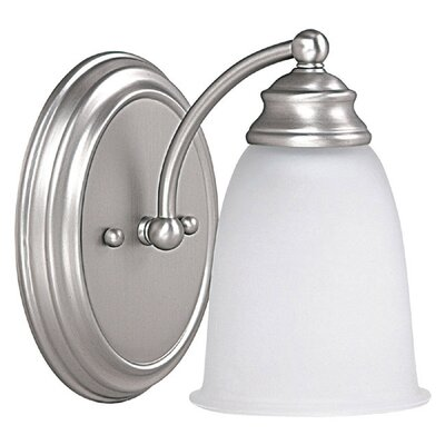 1-Light Wall Sconce Finish: Matte Nickel