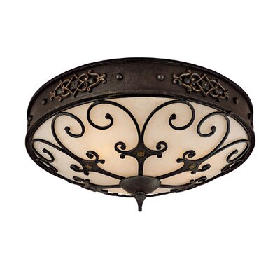 River Crest 3-Light Flush Mount