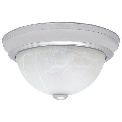 Jeffrey 11 Flush Mount Finish: Chrome, Size: 5.5 H x 11 W x 11 D