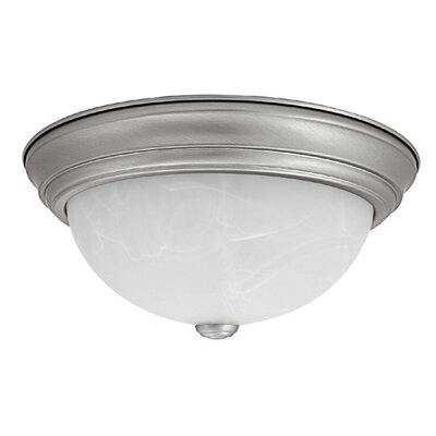 Jeffrey 11 Flush Mount Finish: Matte Nickel, Size: 5.5 H x 11 W x 11 D