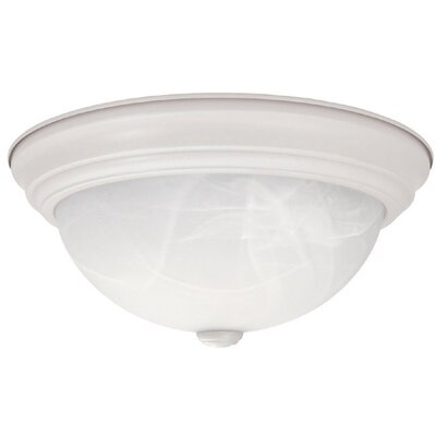 Jeffrey 11 Flush Mount Finish: Matte White, Size: 5.5 H x 11 W x 11 D