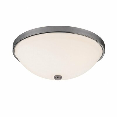 Jeffrey 5.25 3-Light Flush Mount Finish: Matte Nickel