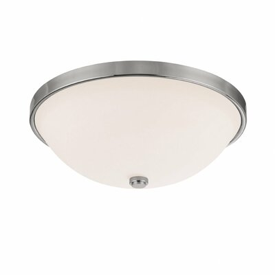 Jeffrey 3-Light Flush Mount Finish: Polished Nickel