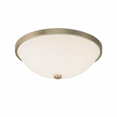 Jeffrey 3-Light Flush Mount Finish: Winter Gold
