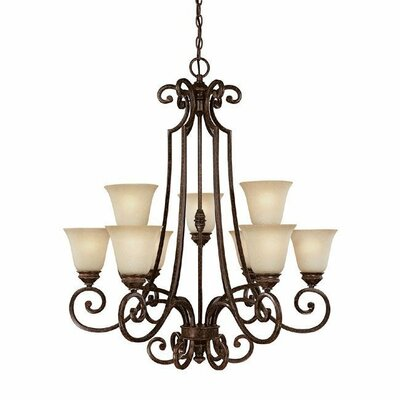 Barclay 9-Light Shaded Chandelier