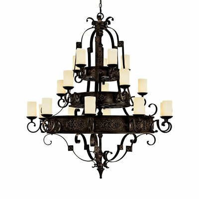 River Crest 20-Light Shaded Chandelier