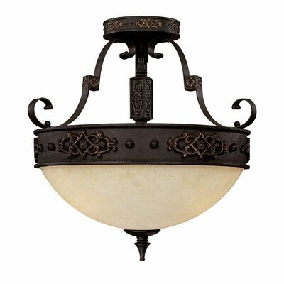 River Crest 3-Light Semi Flush Mount