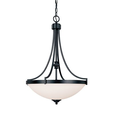 Capital Lighting Towne and Country 3 Light Inverted Pendant - Finish: Basic Black at Sears.com