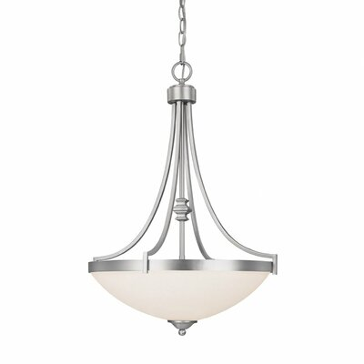 Towne and Country 3 Light Inverted Pendant Finish: Matte Nickel