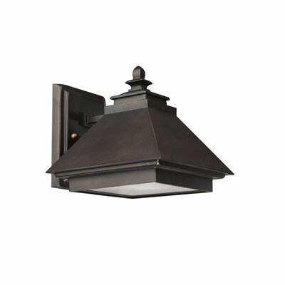 1-Light Outdoor Wall Lantern Finish: Mediterranean Bronze