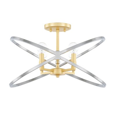 Garret 4-Light Semi Flush Mount