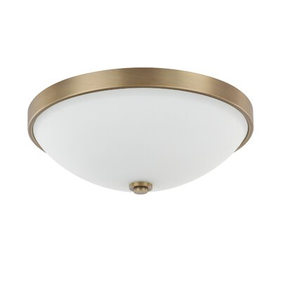 Tamra 2-Light Flush Mount Finish: Aged Brass