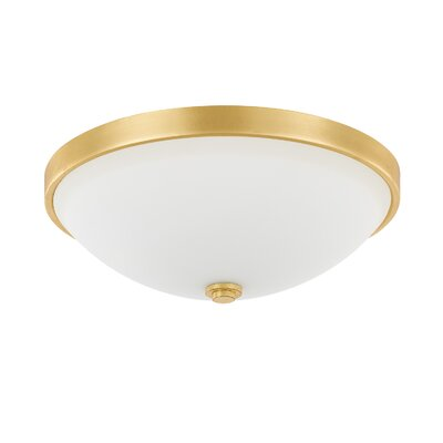 Rayfield 2-Light LED Flush Mount Finish: Gold Leaf