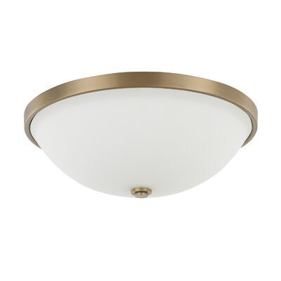 Tamra 3-Light Flush Mount Finish: Aged Brass