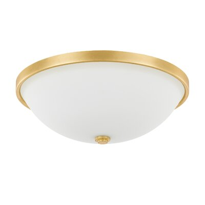 Rayfield 3-Light LED Flush Mount Finish: Gold Leaf