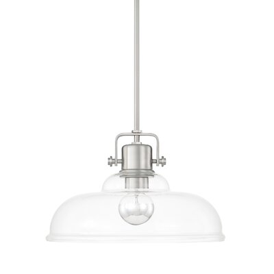 Fuhrmann 1-Light Inverted Pendant Finish: Brushed Nickel