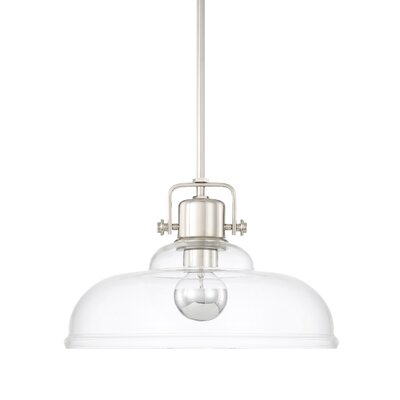 Fuhrmann 1-Light Inverted Pendant Finish: Polished Nickel
