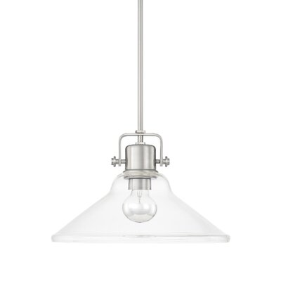 Fuhrmann 1-Light Bowl Shade Inverted Pendant Finish: Brushed Nickel