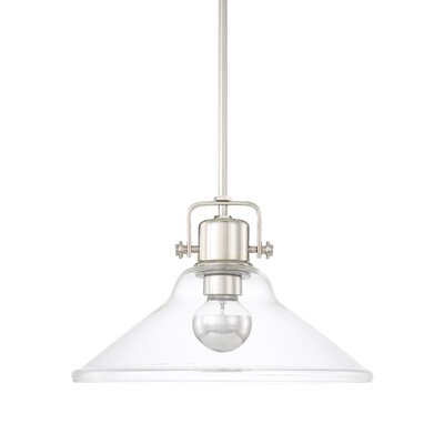 Fuhrmann 1-Light Bowl Shade Inverted Pendant Finish: Polished Nickel