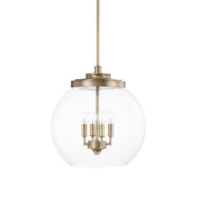Tyngsborough 4-Light Globe Pendant Finish: Aged Brass