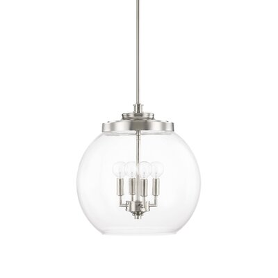 Maria 4-Light Globe Pendant Finish: Polished Nickel