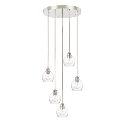 Maria 5-Light Cluster Pendant Finish: Polished Nickel