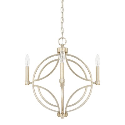 Robles 4-Light Geometric Pendant Size: 25.5 H x 25.25 W x 25.25 D