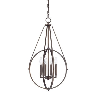 Cherry Hill 4-Light Geometric Pendant Finish: Burnished Bronze