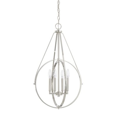 Cherry Hill 4-Light Geometric Pendant Finish: Polished Nickel