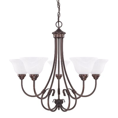 Batchtown 5-Light Shaded Chandelier