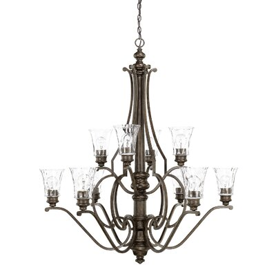 Channel 10-Light Shaded Chandelier