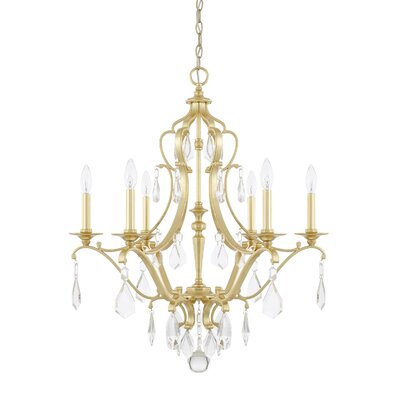 Destrey 6-Light Crystal Chandelier