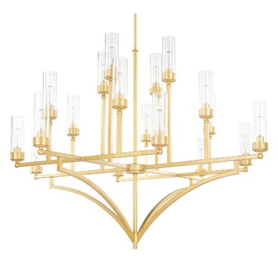 Depaz 18-Light Shaded Chandelier