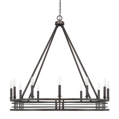 Roulier 12-Light Candle-Style Chandelier