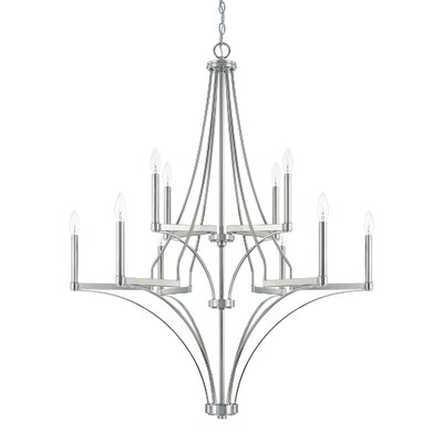 Yvette 10-Light Candle-Style Chandelier