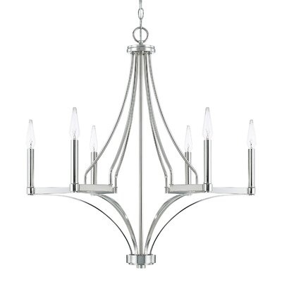 Yvette 6-Light Candle-Style Chandelier
