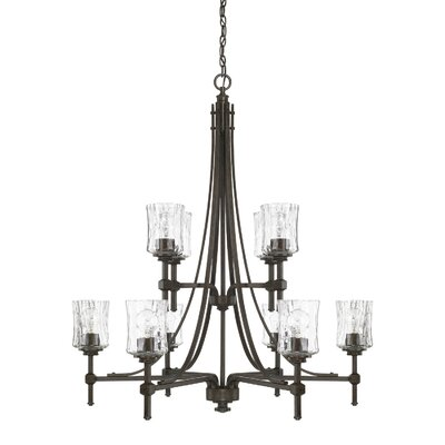 Berns 10-Light Shaded Chandelier