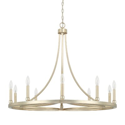Vaughan 10-Light Candle-Style Chandelier