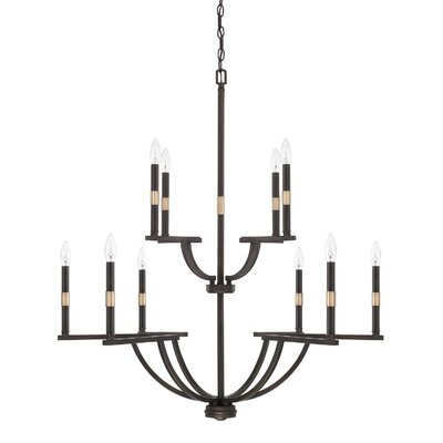 Jamil 10-Light Candle-Style Chandelier