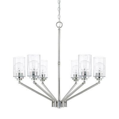 Amos 6-Light Shaded Chandelier