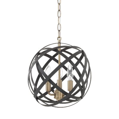 Isai 3-Light Globe Pendant