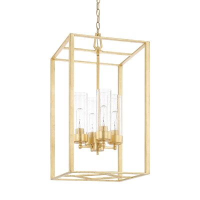 Depaz 4-Light Metal Foyer Pendant