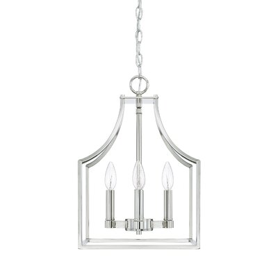 Yvette 4-Light Foyer Pendant Size: 18 H x 12 W x 12 D