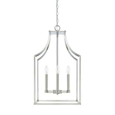 Yvette 4-Light Foyer Pendant Size: 27 H x 15 W x 15 D